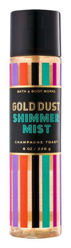 Bath & Body Works Champagne Toast spray do ciała dla kobiet 226 g z błyszczącymi cząsteczkami
