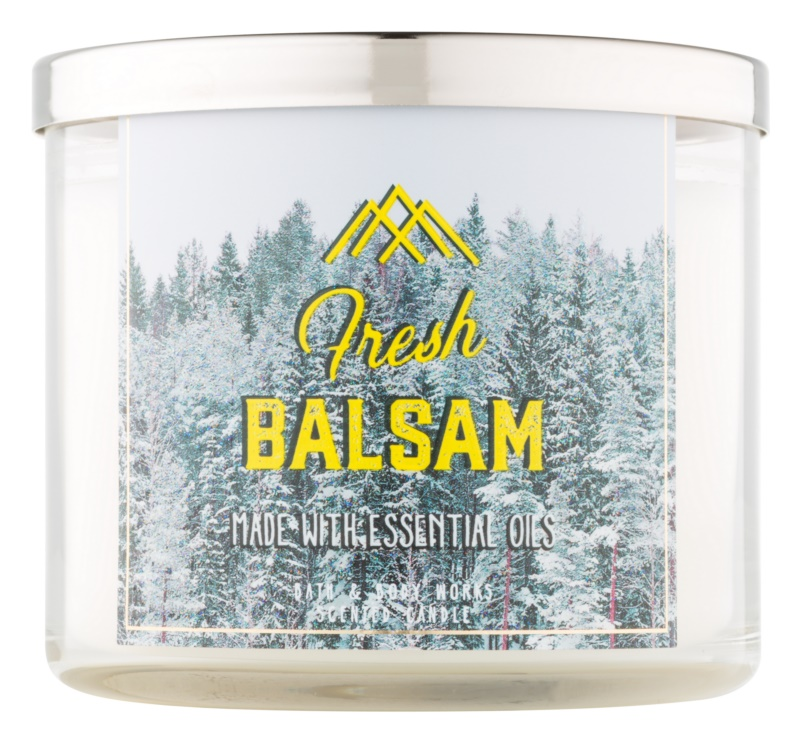 Bath & Body Works Camp Winter Fresh Balsam dišeča sveča  411 g