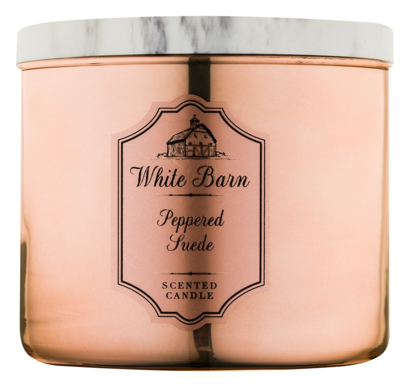 Bath & Body Works White Barn Peppered Suede Geurkaars 411 gr
