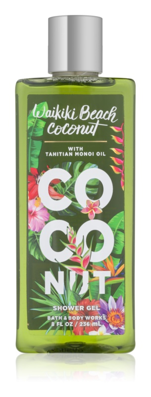 Bath & Body Works Waikiki Beach Coconut Douchegel voor Vrouwen  236 ml