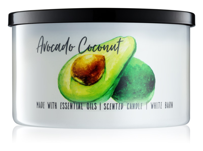 Bath & Body Works Avocado Coconut illatos gyertya  411 g
