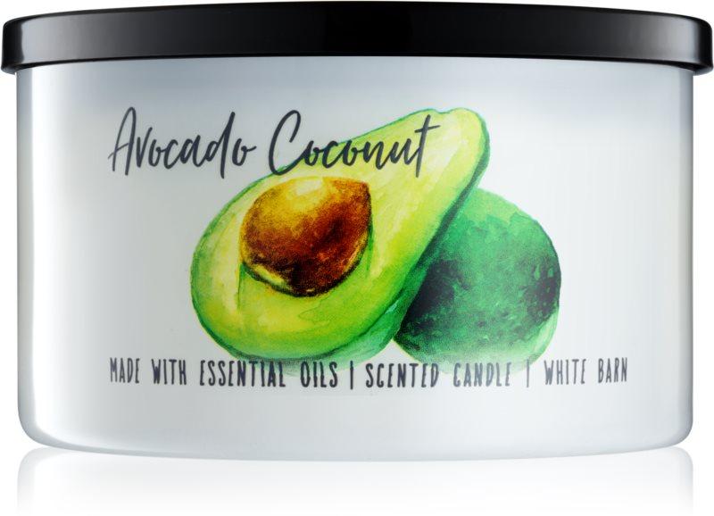 Bath & Body Works Avocado Coconut vela perfumada  411 g