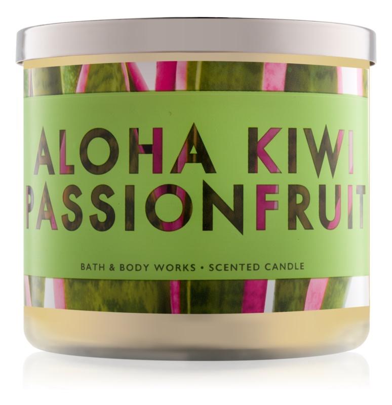 Bath & Body Works Aloha Kiwi Passionfruit candela profumata 411 g