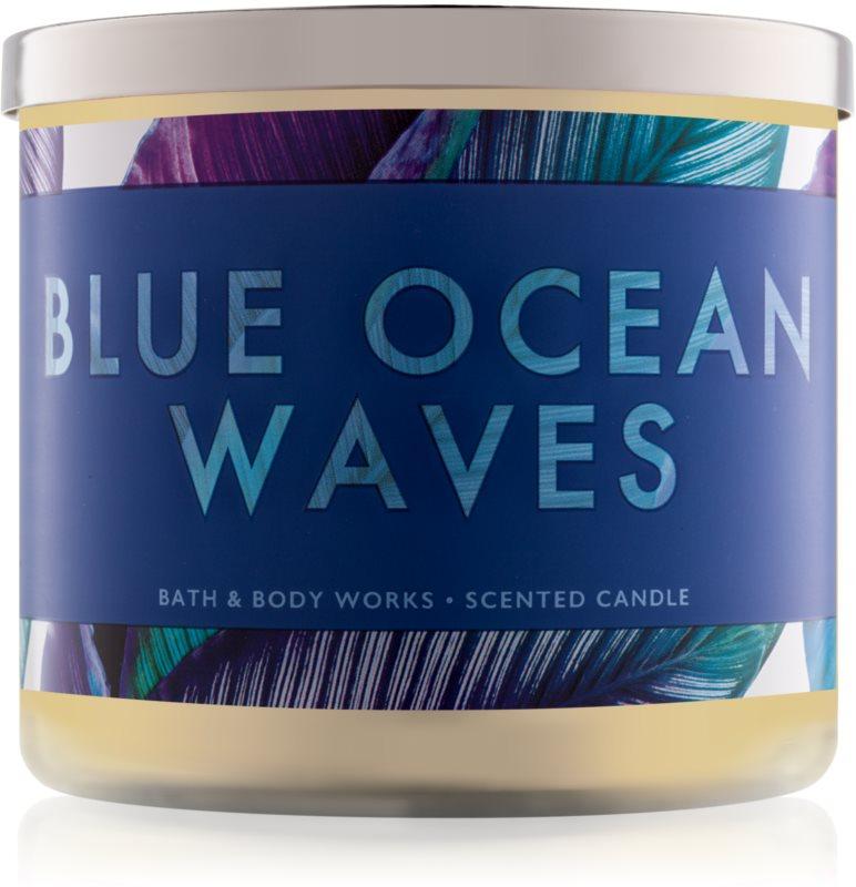 Bath & Body Works Blue Ocean Waves vonná sviečka 411 g