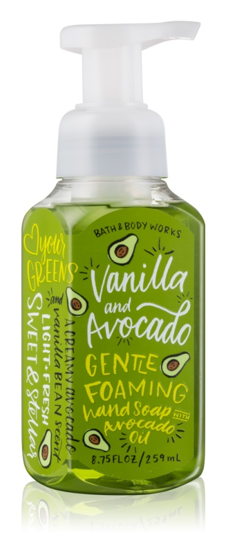 Bath & Body Works Vanilla & Avocado hab szappan kézre