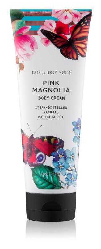 Bath & Body Works Pink Magnolia tělový krém pro ženy 226 g