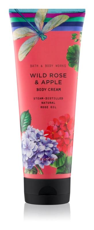 Bath & Body Works Wild Rose & Apple telový krém pre ženy 226 g