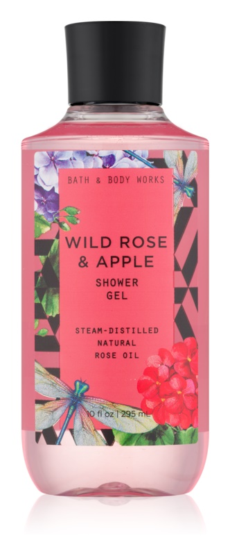 Bath & Body Works Wild Rose & Apple sprchový gel pro ženy 295 ml