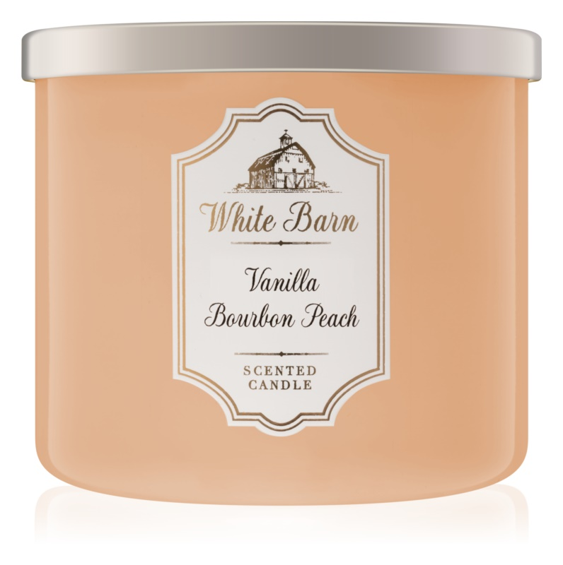 Bath & Body Works Vanilla Bourbon Peach lumanari parfumate  411 g