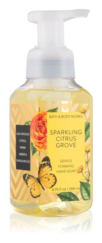 Bath & Body Works Sparkling Citrus Groove hab szappan kézre