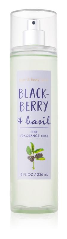 Bath & Body Works Blackberry & Basil tělový sprej pro ženy 236 ml