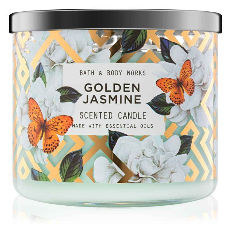 Bath & Body Works Golden Jasmine vonná svíčka 411 g