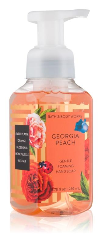 Bath & Body Works Georgia Peach hab szappan kézre