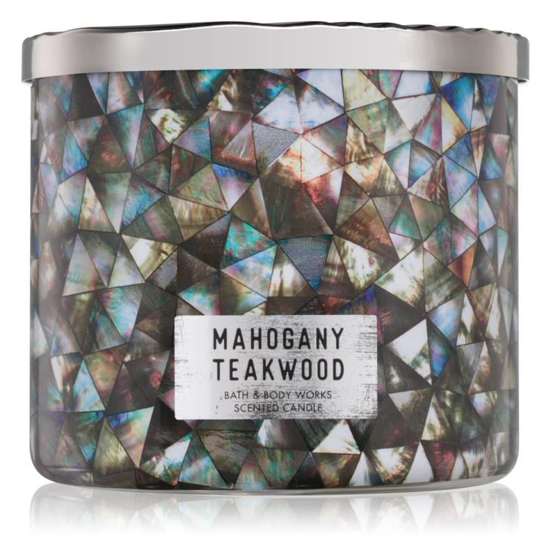 Bath & Body Works White Barn Mahogany Teakwood ароматна свещ