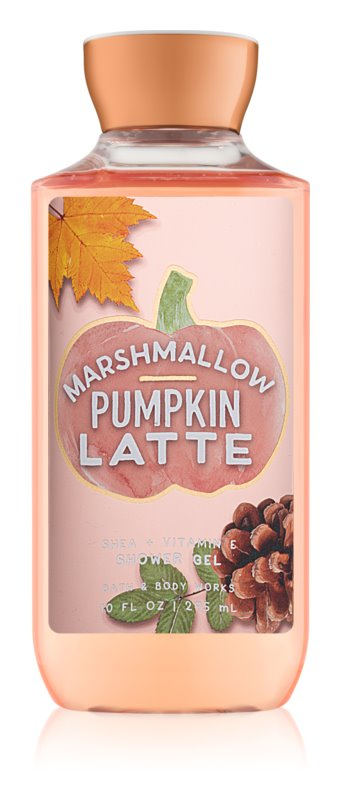 Bath & Body Works Marshmallow Pumpkin Latte sprchový gel pro ženy 295 ml