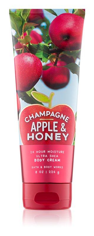 Bath & Body Works Champagne Apple & Honey tělový krém pro ženy 226 g