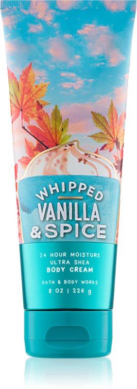 Bath & Body Works Whipped Vanilla & Spice telový krém pre ženy 226 g