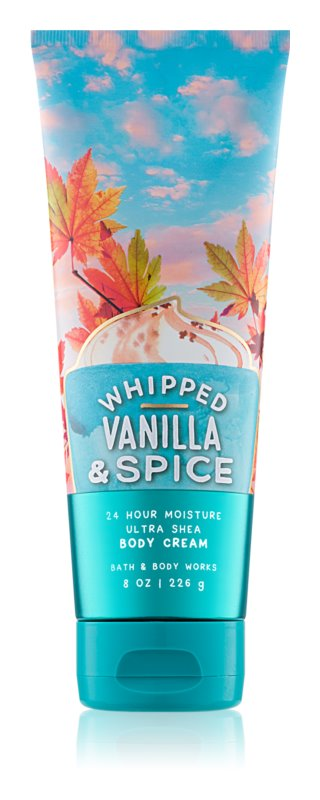 Bath & Body Works Whipped Vanilla & Spice testkrém nőknek 226 g