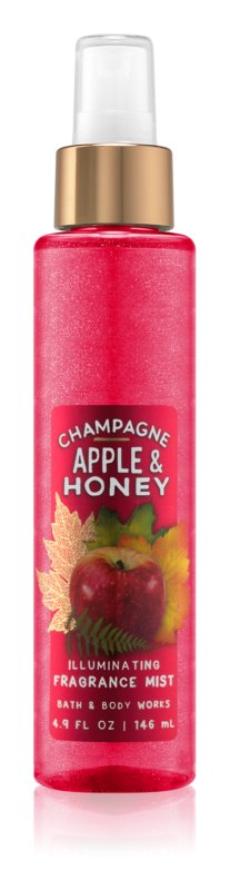 Bath & Body Works Champagne Apple & Honey pršilo za telo za ženske 146 ml bleščeč