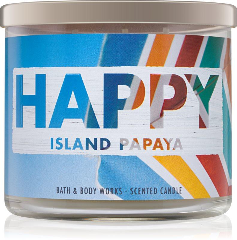 Bath & Body Works Island Papaya candela profumata 411 g