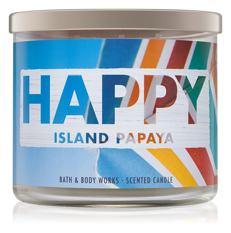 Bath & Body Works Island Papaya vonná svíčka 411 g