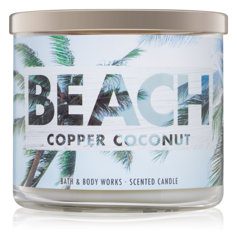 Bath & Body Works Beach Copper Coconut vonná sviečka 411 g