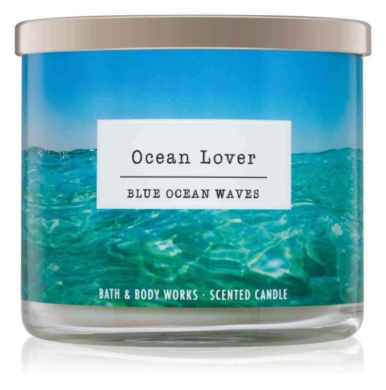 Bath & Body Works Blue Ocean Waves vonná sviečka 411 g I. Ocean Lover