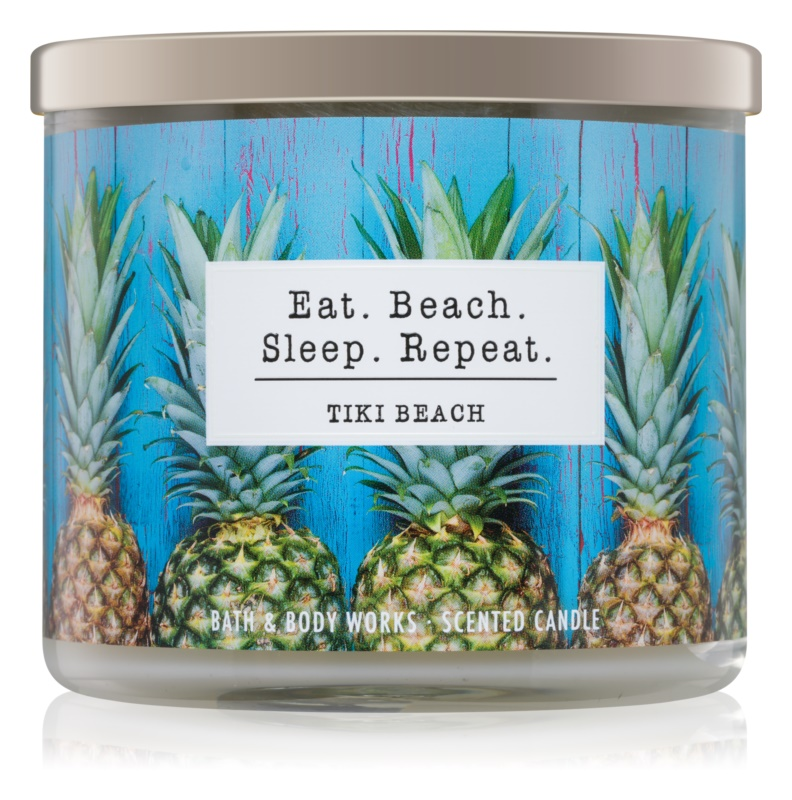 Bath & Body Works Tiki Beach vonná svíčka 411 g I. Eat. Beach. Sleep. Repeat.