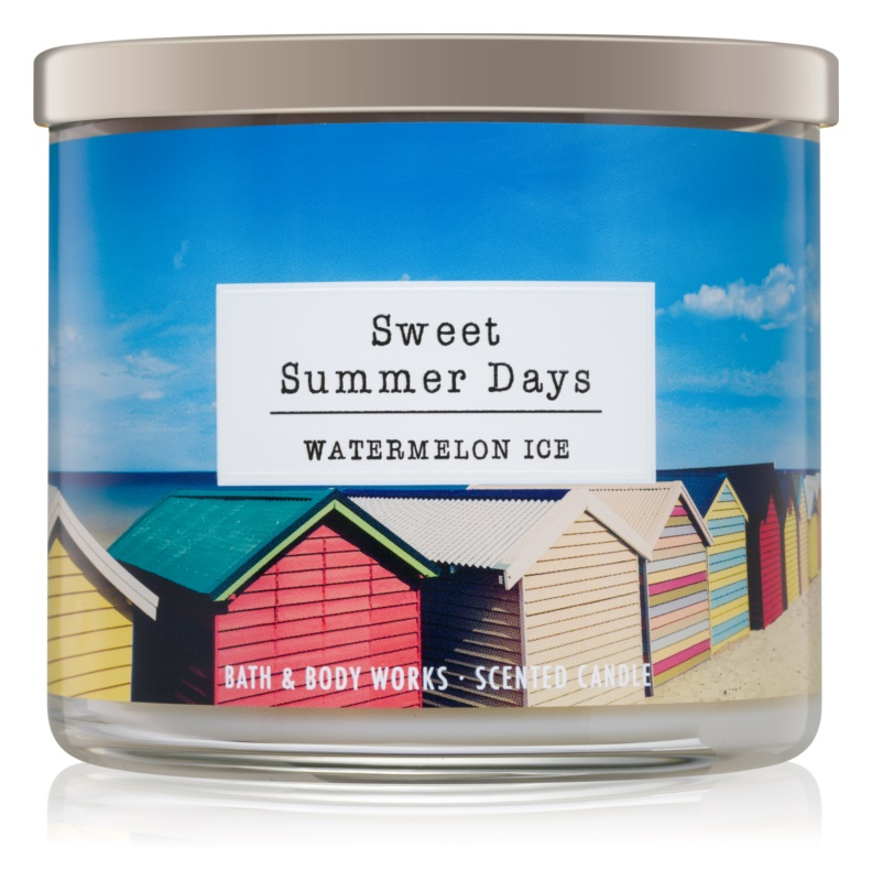 Bath & Body Works Watermelon Ice Geurkaars 411 gr  Sweet Summer Days