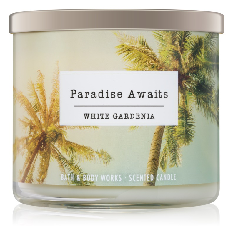 Bath & Body Works White Gardenia Scented Candle 411 g I. Paradise Awaits