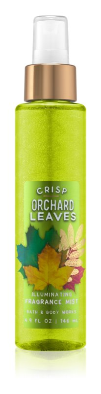 Bath & Body Works Crisp Orchard Leaves tělový sprej pro ženy 146 ml třpytivý