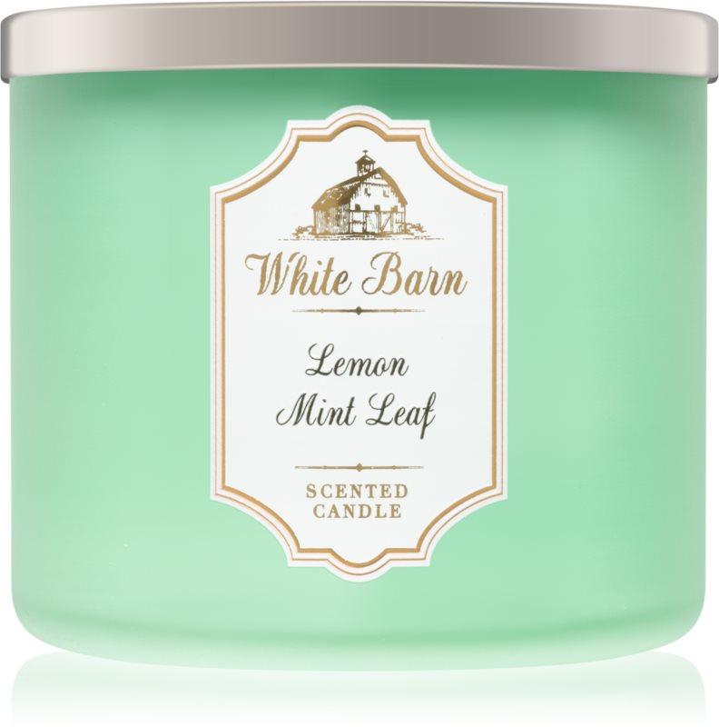 Bath & Body Works Lemon Mint Leaf Αρωματικό κερί 411 γρ