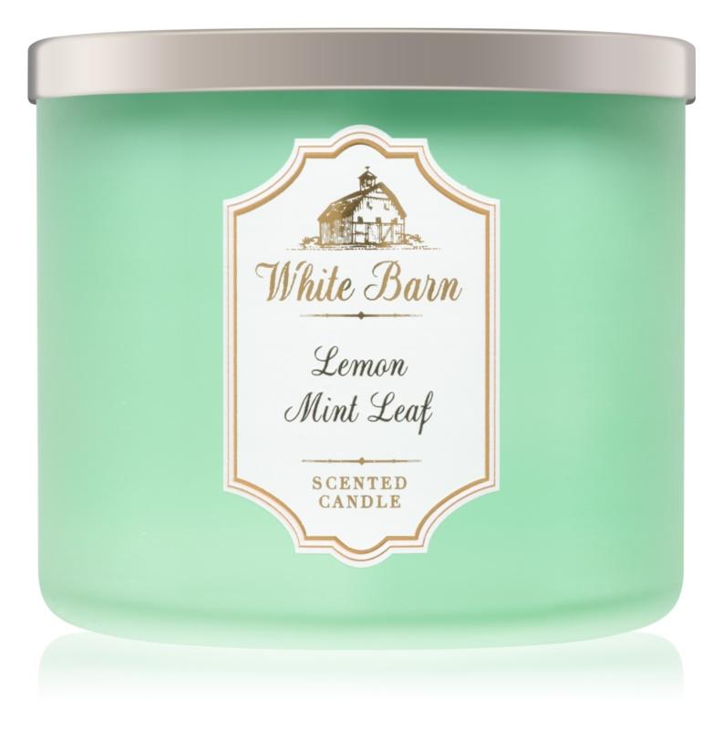 Bath & Body Works Lemon Mint Leaf bougie parfumée 411 g