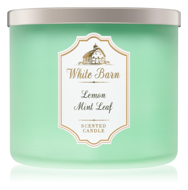 Bath & Body Works Lemon Mint Leaf vonná sviečka 411 g