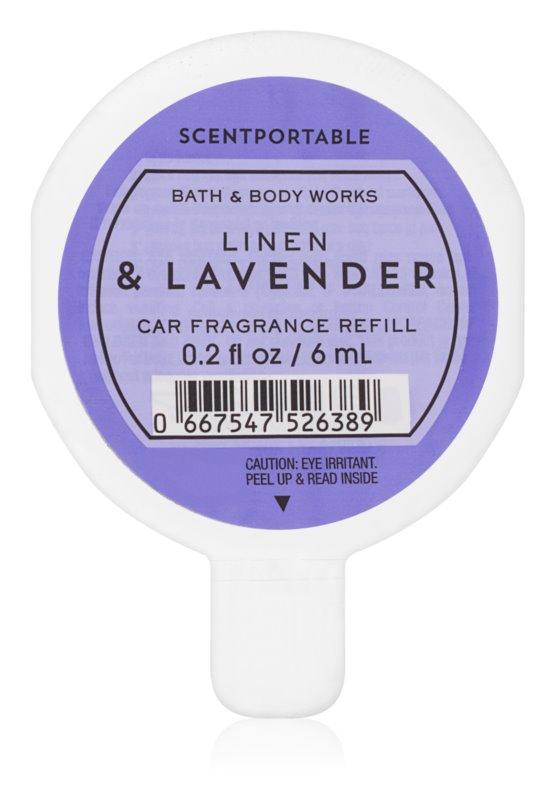 Bath & Body Works Linen & Lavender vůně do auta 6 ml náhradní náplň