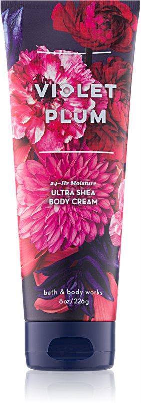 Bath & Body Works Violet Plum telový krém pre ženy 226 g