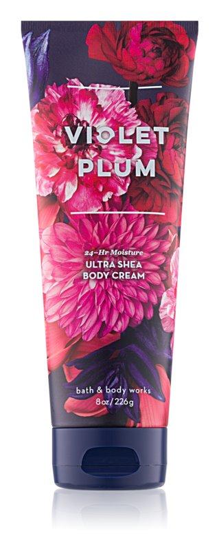 Bath & Body Works Violet Plum tělový krém pro ženy 226 g