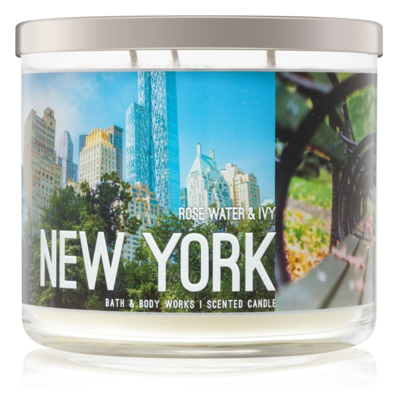 Bath & Body Works Rose Water & Ivy vonná svíčka 411 g I. New York