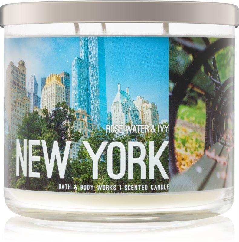Bath & Body Works Rose Water & Ivy vonná sviečka 411 g I. New York