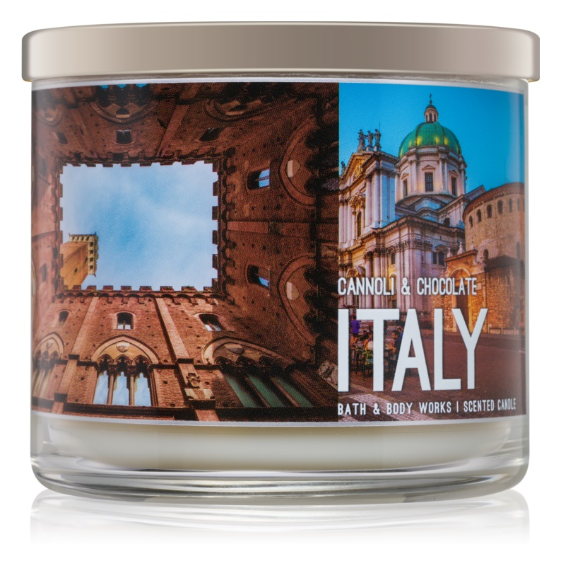 Bath & Body Works Cannoli & Chocolate Geurkaars 411 gr  Italy