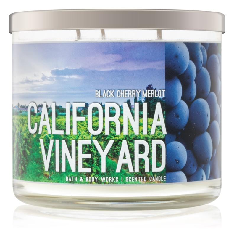 Bath & Body Works Black Cherry Merlot bougie parfumée 411 g  California Vineyard
