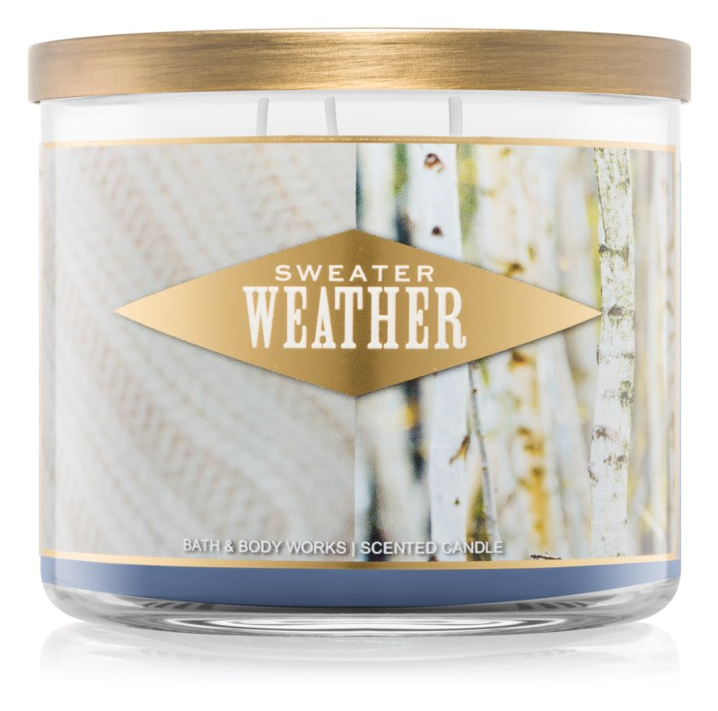 Bath Body Works Sweater Weather Bougie Parfumée 411 G I Notinofr