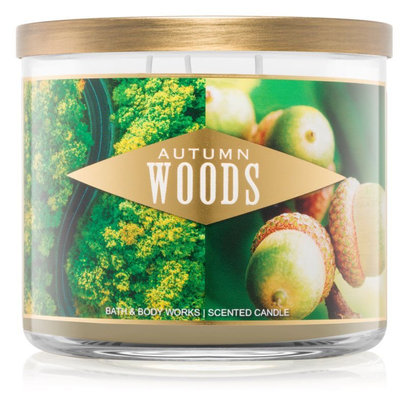 Bath & Body Works Autumn Woods vonná sviečka 411 g III.