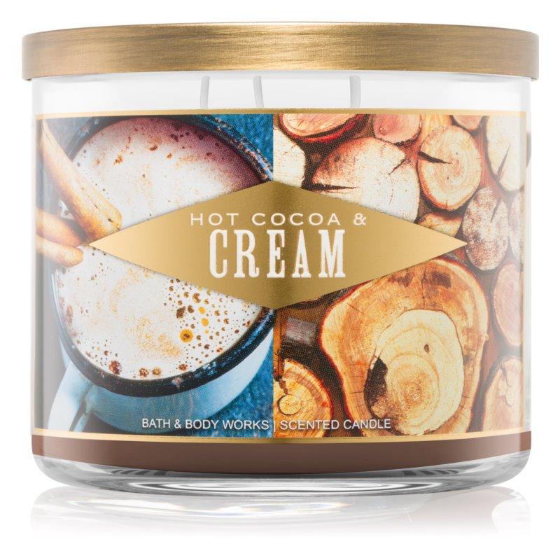 Bath & Body Works Hot Cocoa & Cream ароматна свещ  411 гр. I.