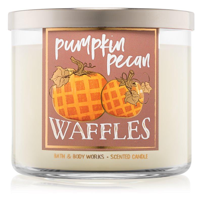 Bath & Body Works Pumpkin Pecan Waffles vonná svíčka 411 g