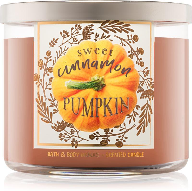 Bath & Body Works Sweet Cinnamon Pumpkin ароматизована свічка  411 гр I.