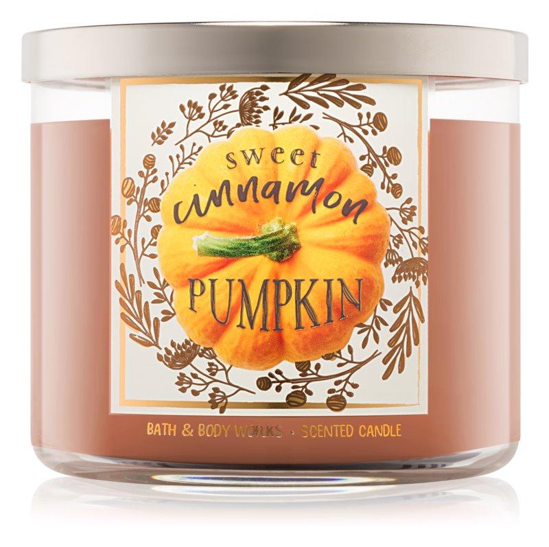 Bath & Body Works Sweet Cinnamon Pumpkin candela profumata 411 g I.