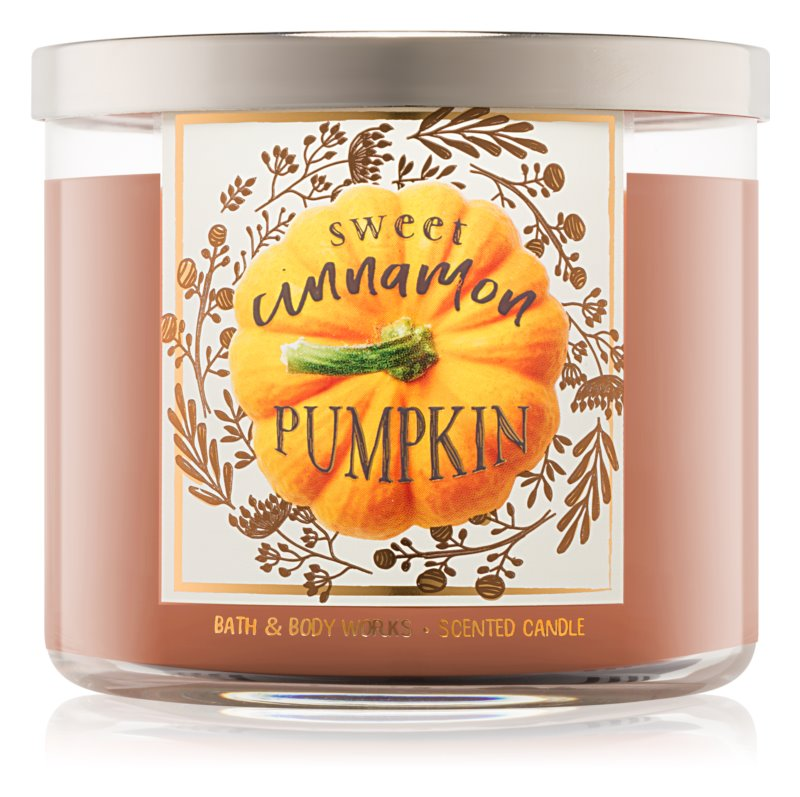 Bath & Body Works Sweet Cinnamon Pumpkin vonná sviečka 411 g I.
