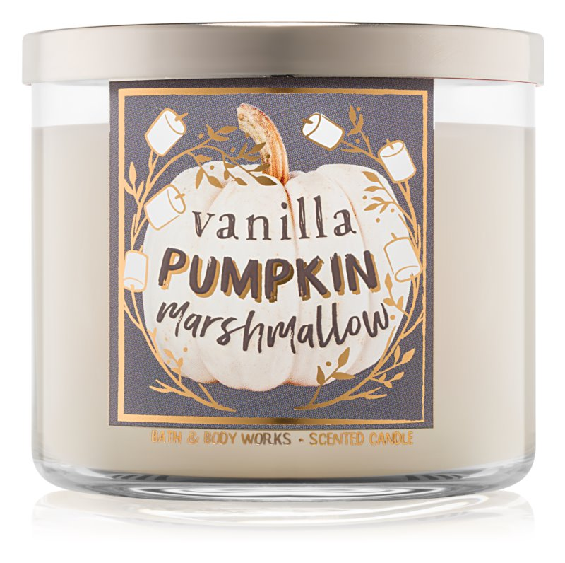 Bath & Body Works Vanilla Pumpkin Marshmallow candela profumata 411 g I.