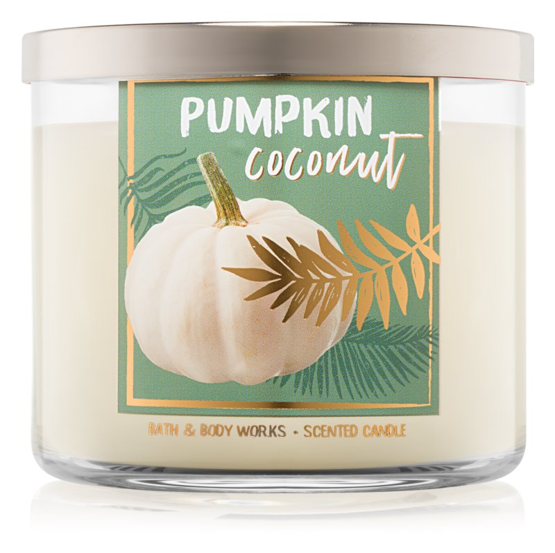 Bath & Body Works Pumpkin Coconut vonná sviečka 411 g